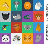 wild animal cartoon icons in...   Shutterstock .eps vector #1278975547