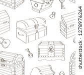 set of wooden chests pattern.... | Shutterstock . vector #1278976264
