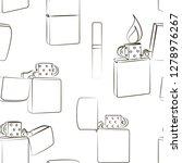 metal windproof lighter pattern....   Shutterstock . vector #1278976267