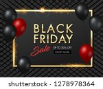 black friday sale abstract...   Shutterstock .eps vector #1278978364