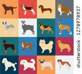 dog breeds cartoon icons in set ... | Shutterstock .eps vector #1278978937