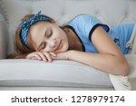 cute  pretty blonde teenager... | Shutterstock . vector #1278979174