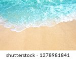 soft wave of ocean on the sandy ... | Shutterstock . vector #1278981841