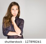portrait of an attractive... | Shutterstock . vector #127898261