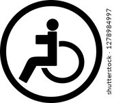 vector handicapped icon    Shutterstock .eps vector #1278984997