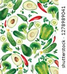 green vegetables such as...   Shutterstock . vector #1278989041