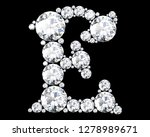 diamond letters with gemstones... | Shutterstock . vector #1278989671