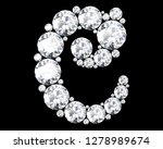 diamond letters with gemstones... | Shutterstock . vector #1278989674