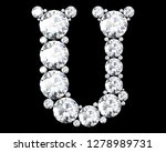 diamond letters with gemstones... | Shutterstock . vector #1278989731