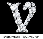 diamond letters with gemstones... | Shutterstock . vector #1278989734
