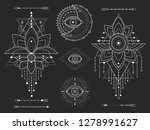 vector kit of sacred geometric... | Shutterstock .eps vector #1278991627