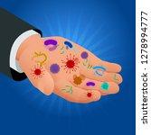 isometric micro organisms... | Shutterstock .eps vector #1278994777