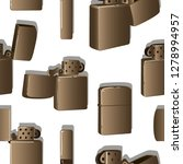 metal windproof lighter pattern....   Shutterstock . vector #1278994957