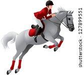 equestrian sport girl rider in...   Shutterstock .eps vector #127899551