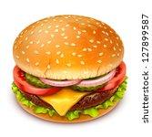 hamburger icon | Shutterstock .eps vector #127899587