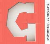 letter cut out on a cardboard.... | Shutterstock .eps vector #1278998341