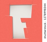 letter cut out on a cardboard.... | Shutterstock .eps vector #1278998344