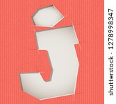 letter cut out on a cardboard.... | Shutterstock .eps vector #1278998347