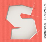 letter cut out on a cardboard.... | Shutterstock .eps vector #1278998371