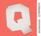 letter cut out on a cardboard.... | Shutterstock .eps vector #1278998374