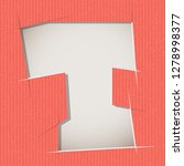 letter cut out on a cardboard.... | Shutterstock .eps vector #1278998377