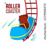 roller coaster vector. fast... | Shutterstock .eps vector #1279000474
