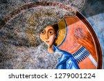 fragments of frescoes  wall...   Shutterstock . vector #1279001224
