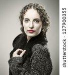 portrait of young caucasian...   Shutterstock . vector #127900355