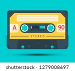 audio cassette retro analogue... | Shutterstock .eps vector #1279008697