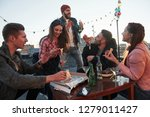 time for singing. at least guy... | Shutterstock . vector #1279011427