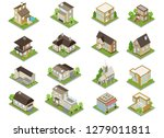 suburbia buildings icons set... | Shutterstock .eps vector #1279011811