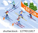 winter sports isometric... | Shutterstock .eps vector #1279011817