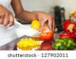african  american womans hand... | Shutterstock . vector #127902011