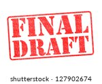 Small photo of FINAL DRAFT red rubber stamp over a white background.