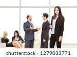 manager of the company with... | Shutterstock . vector #1279033771