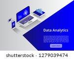 isometric modern computers... | Shutterstock .eps vector #1279039474