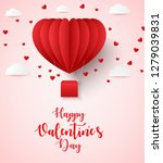 happy valentines day greetings... | Shutterstock .eps vector #1279039831