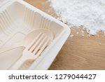 biodegradable plastic lunch box ... | Shutterstock . vector #1279044427