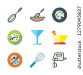 mixing icon set. vector set... | Shutterstock .eps vector #1279045837