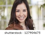 portrait of a beautiful latin... | Shutterstock . vector #127904675