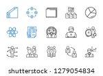 organization icons set.... | Shutterstock .eps vector #1279054834