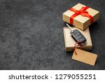 Gift Box With Car Keys With...
