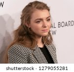 Small photo of New York, NY - January 8, 2019: Elsie Fisher wearing dress by Dorothee Schumacher attends National Board of Review 2019 Gala at Cipriani 42nd street