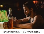 taking beer really seriously.... | Shutterstock . vector #1279055857