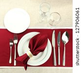 Holiday Table Setting  Close Up
