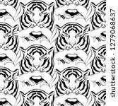 vector pattern with hand drawn... | Shutterstock .eps vector #1279068637