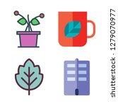 floral icon set. vector set... | Shutterstock .eps vector #1279070977