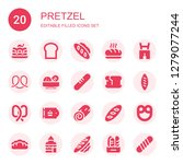 pretzel icon set. collection of ... | Shutterstock .eps vector #1279077244