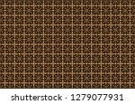 geometric seamless flower... | Shutterstock .eps vector #1279077931