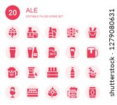 ale icon set. collection of 20... | Shutterstock .eps vector #1279080631